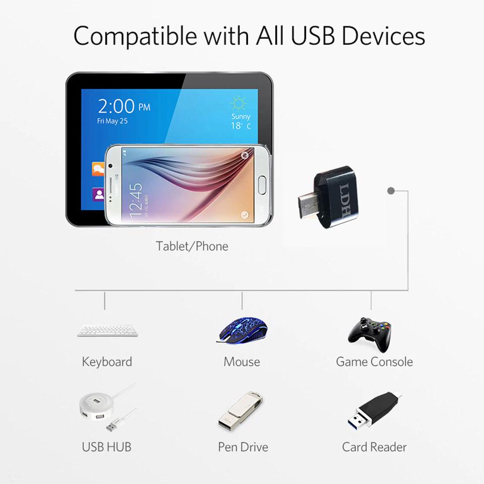 Adapter OTG z USB do micro USB