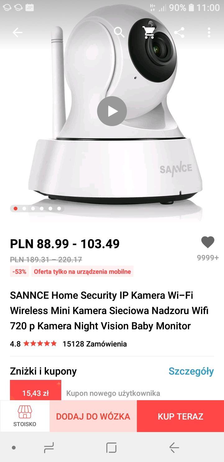 Kamera wifi SANNCE do monitoringu elektroniczna niania okazja cenowa na Aliexpres