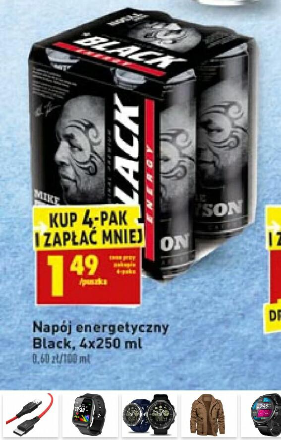 Black Energy Drink przy kupnie 4 paka