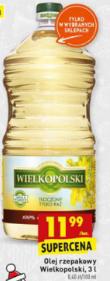 Olej rzepakowy 3L Wielkopolski @Biedronka
