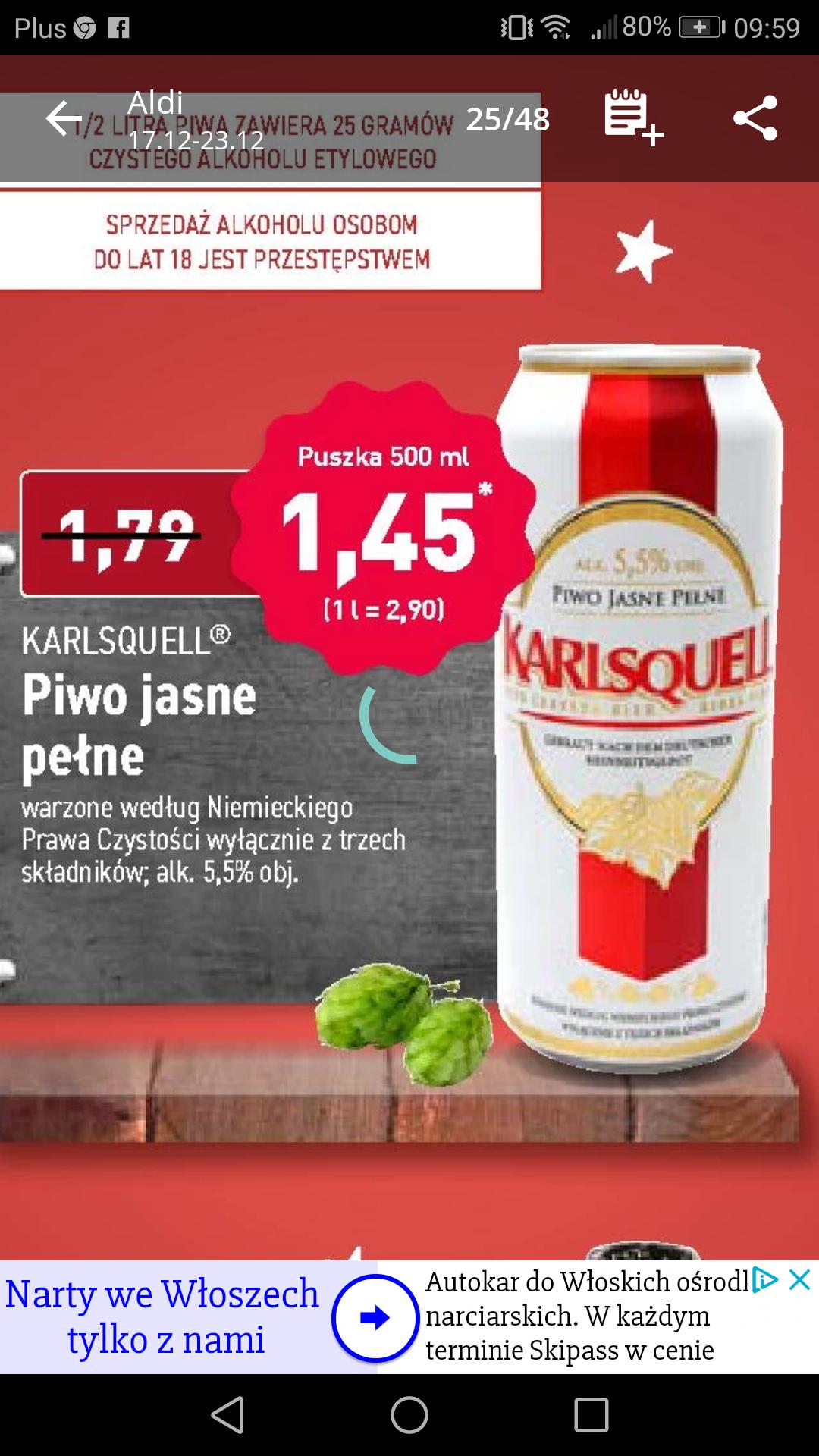 Aldi Piwo Karlsquell 5,5% w niskiej cenie