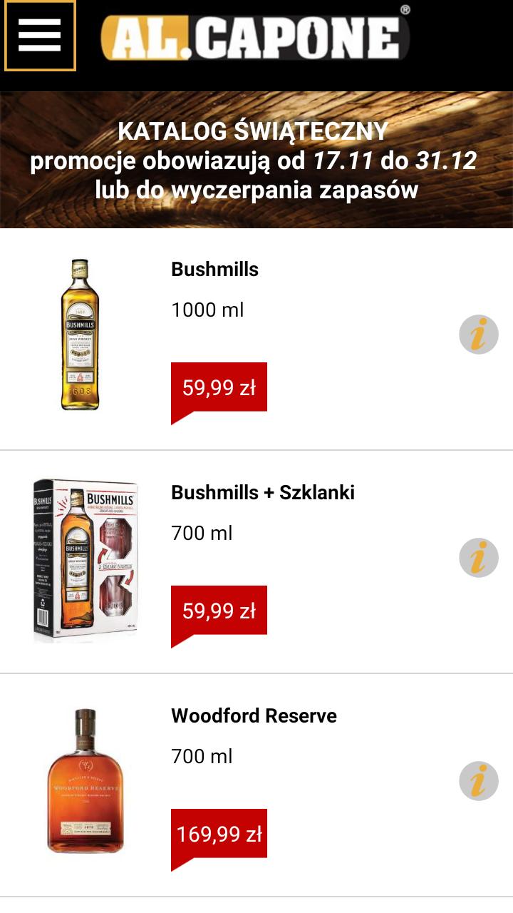 Zestaw: Whisky Bushmills 700 ml + 2 szklanki @ sieć sklepów z alkoholem Al.Capone