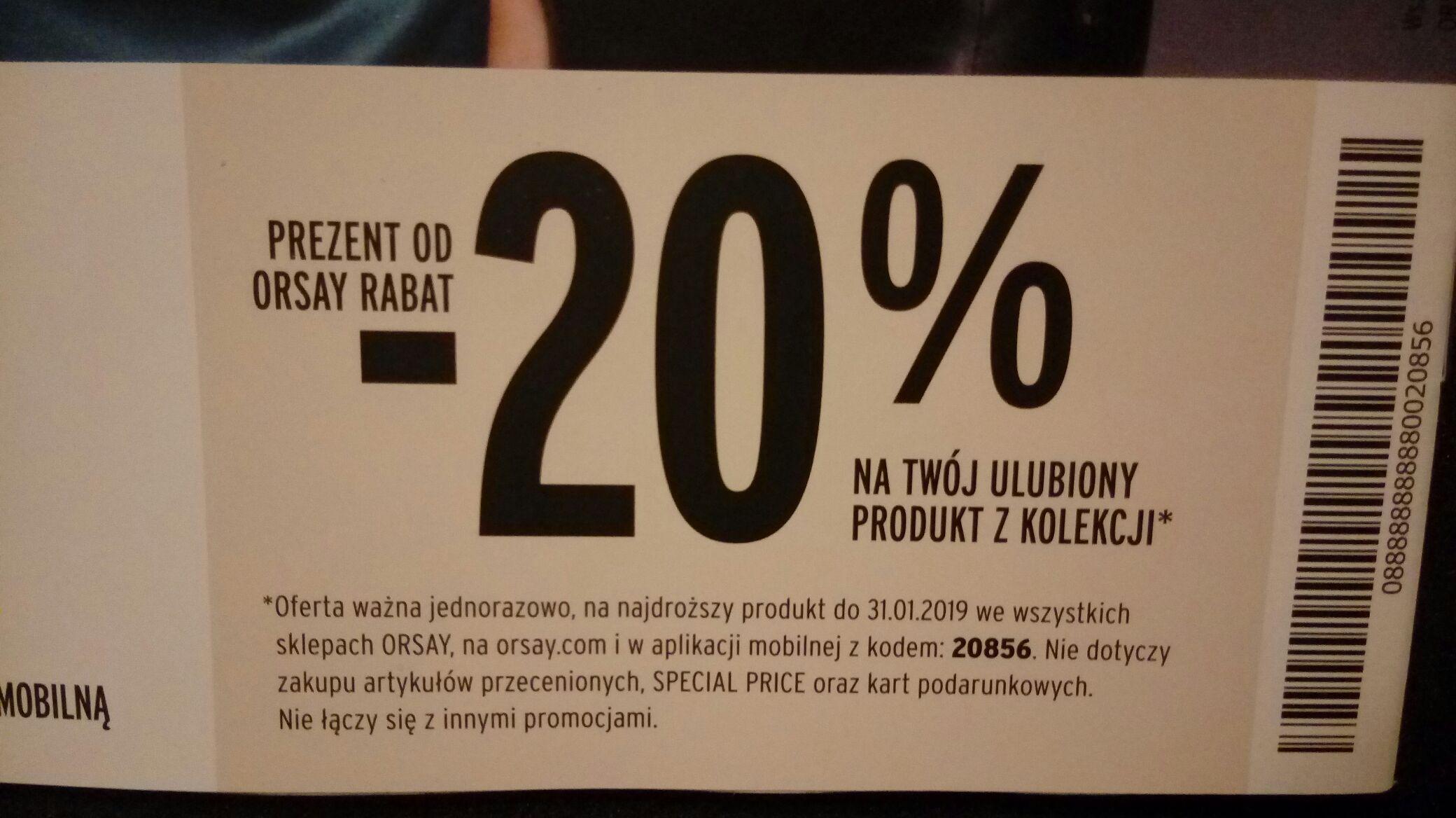 Rabat - 20% ORSAY