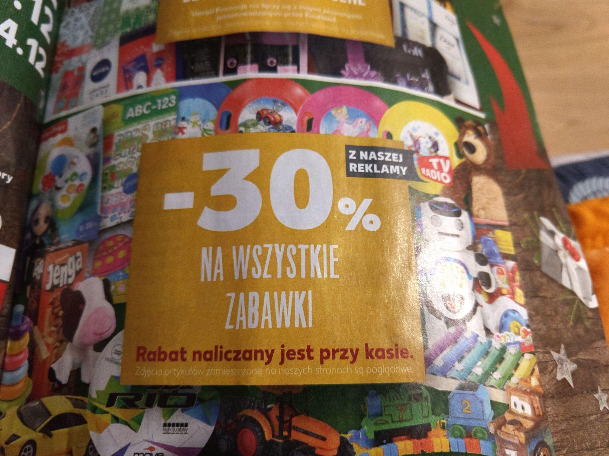 Wszystkie zabawki -30% KAUFLAND