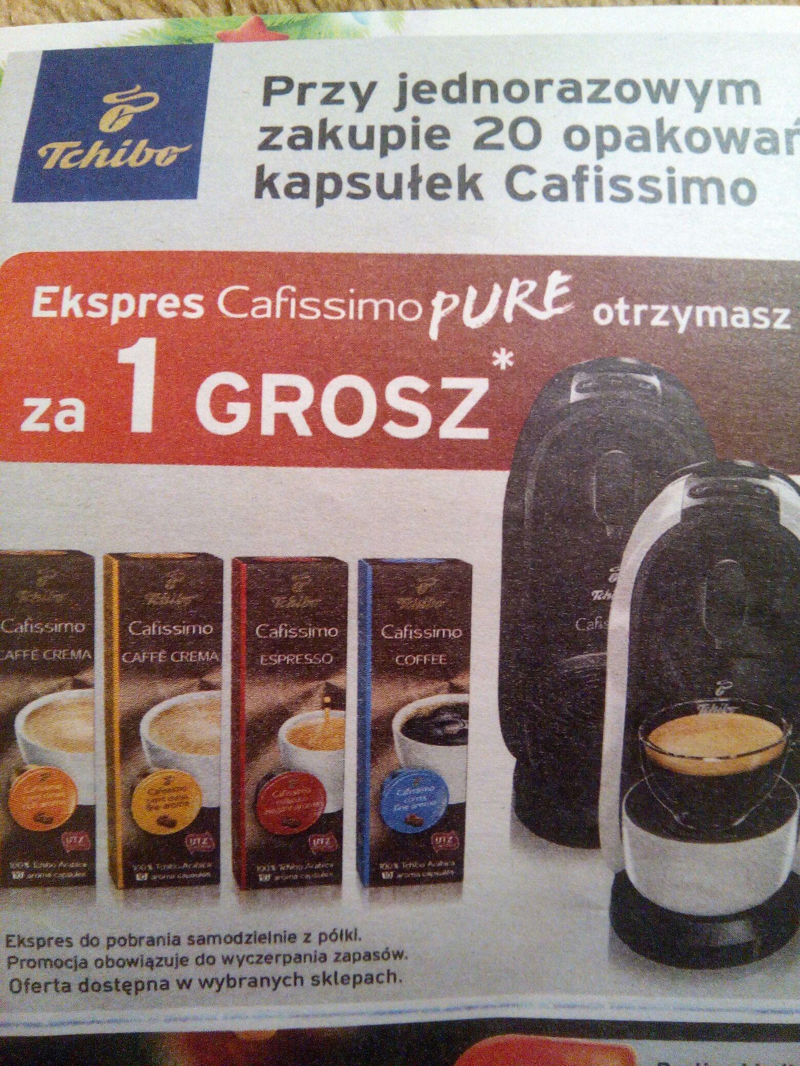 Ekapres Cafissimo pure za 1grosz przy zakupie 20 opakowań kapsułek