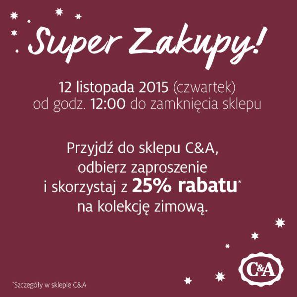 25% zniżki na nową kolekcję @ C&A