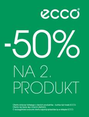 -50% na drugi produkt @ Ecco