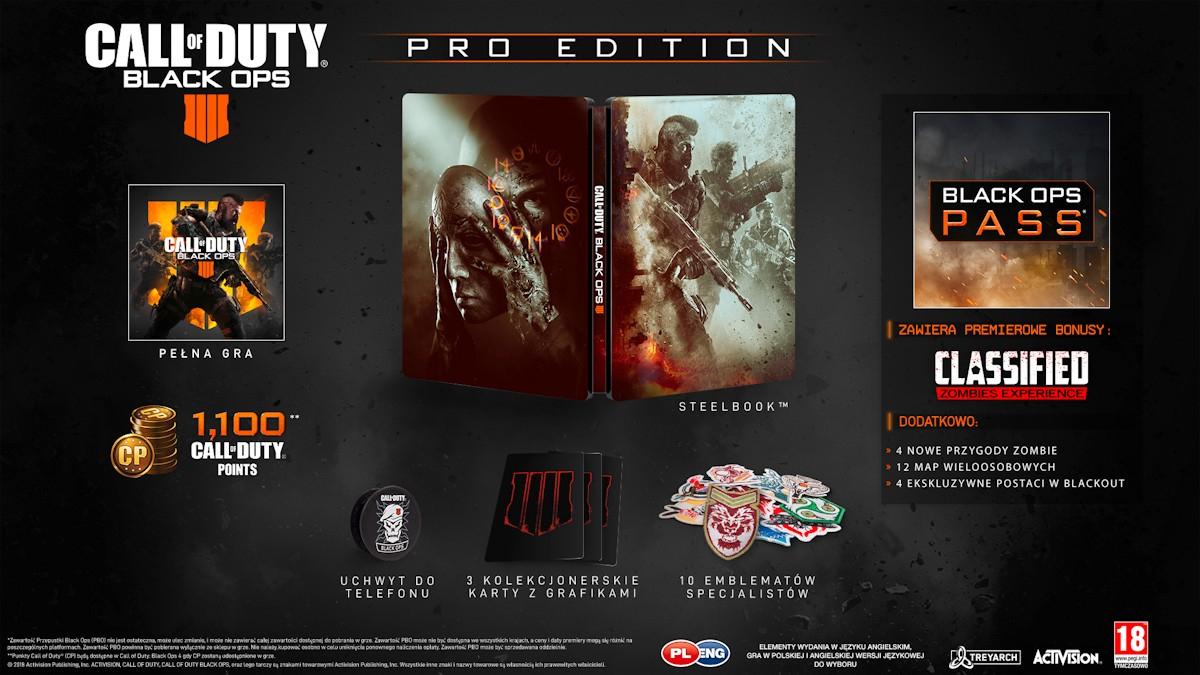 Gra na Playstation 4: Call of Duty: Black Ops IV - EDYCJA PRO