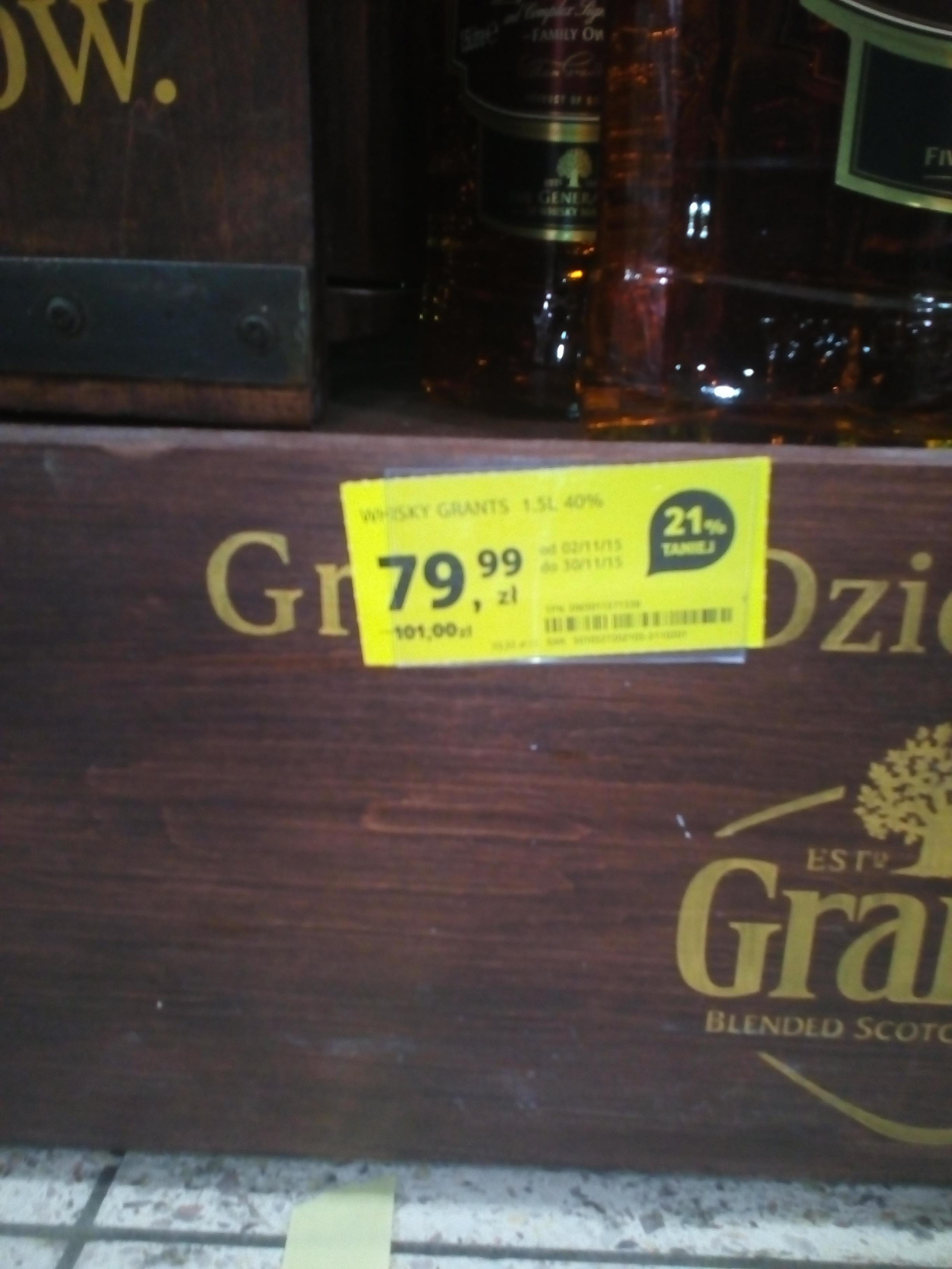 Whisky Grant's 1,5L za 79,99zł @ Tesco