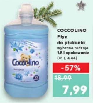 Płyn do płukania Coccolino 1,8L 72 prania (4,44zł/L; 0,11zł/pranie) @ Kaufland