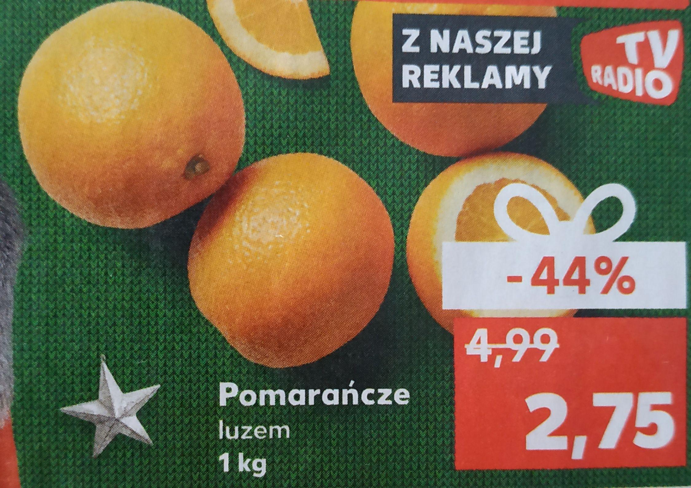 Pomarańcze luzem cena za 1kg Kaufland