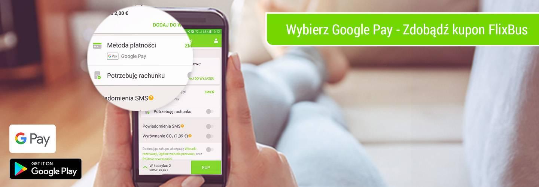 Voucher 30 zł na FlixBus przy zakupie biletu przez Google Pay