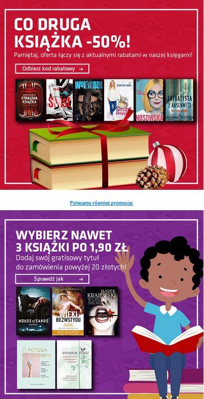 MATRAS - co druga książka -50% + książka gratis powyżej 20 PLN