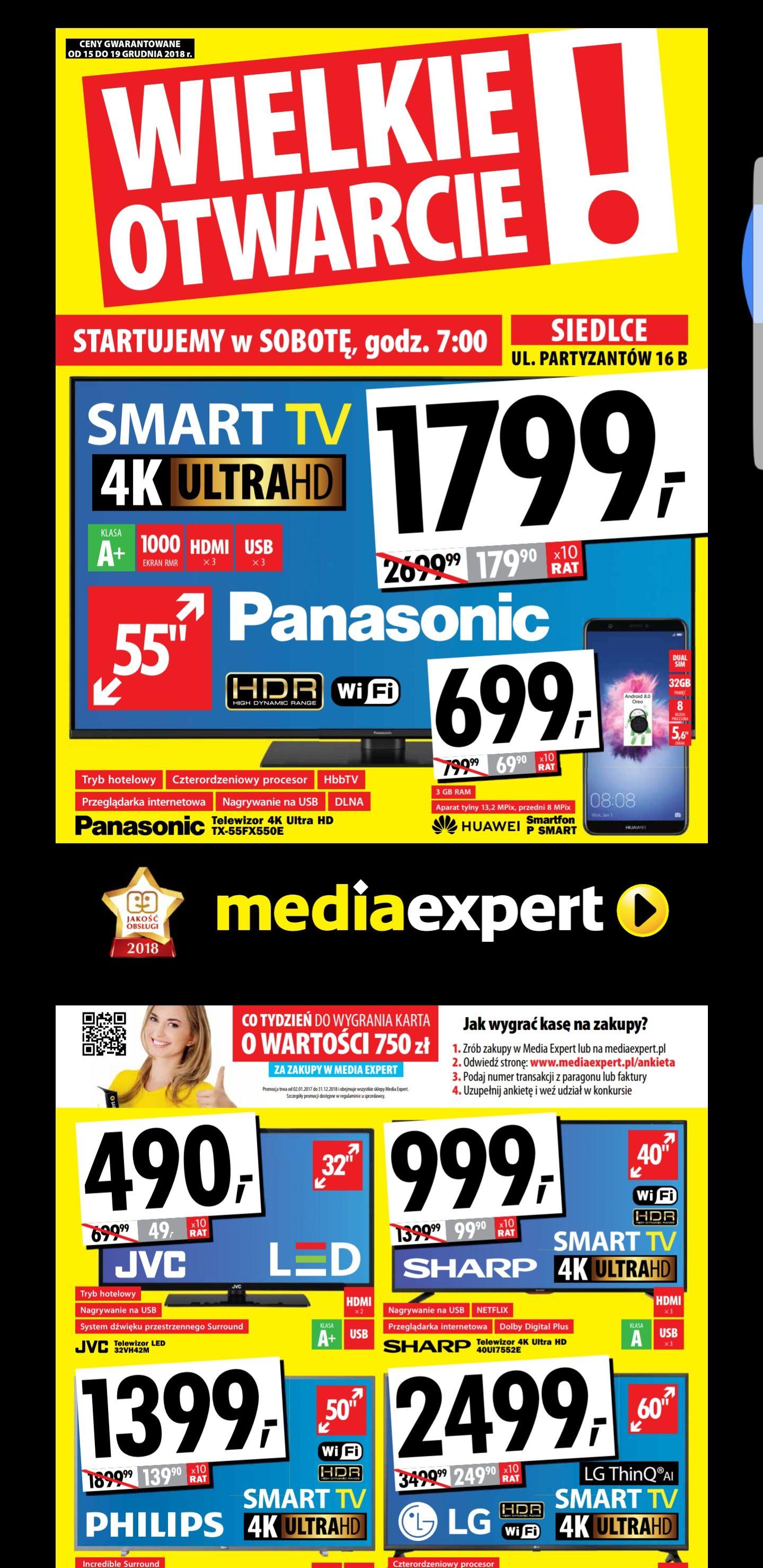 Telewizor Panasonic TX55FX550 na otwarcie marketu
