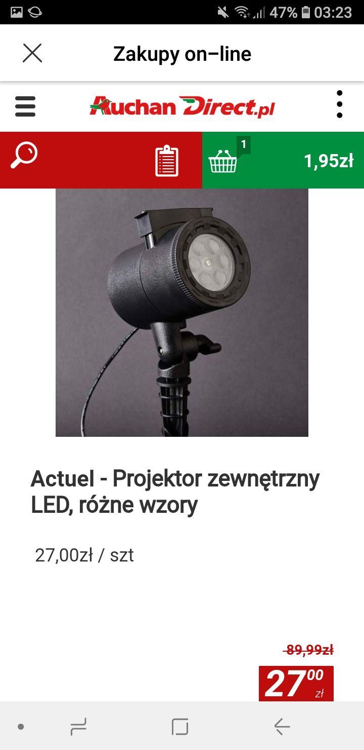Projektor świąteczny super cena 70 % taniej w Auchan Direct