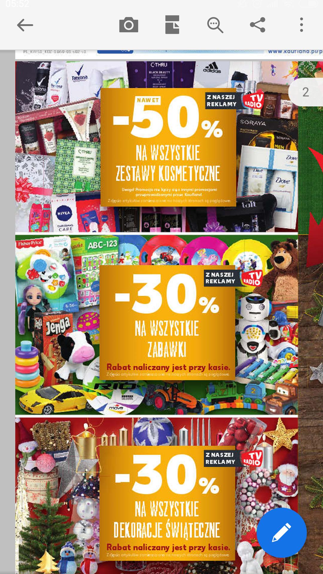 -30% na dekoracje świąteczne w KAUFLAND