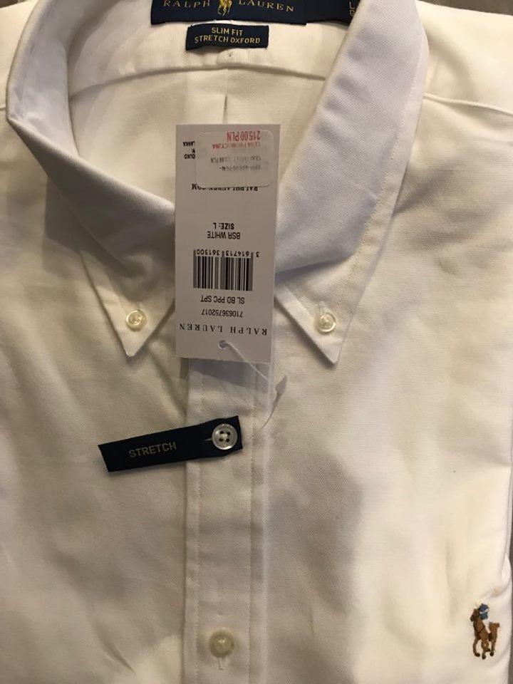 Koszula Biała klasyczna Oxford slim Fit Ralph Lauren