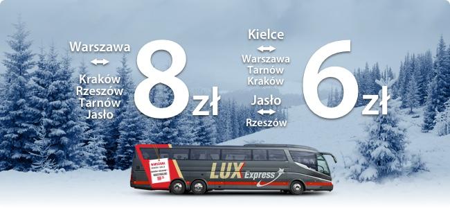 Podróże w grudniu od 6 zł @ LuxExpress