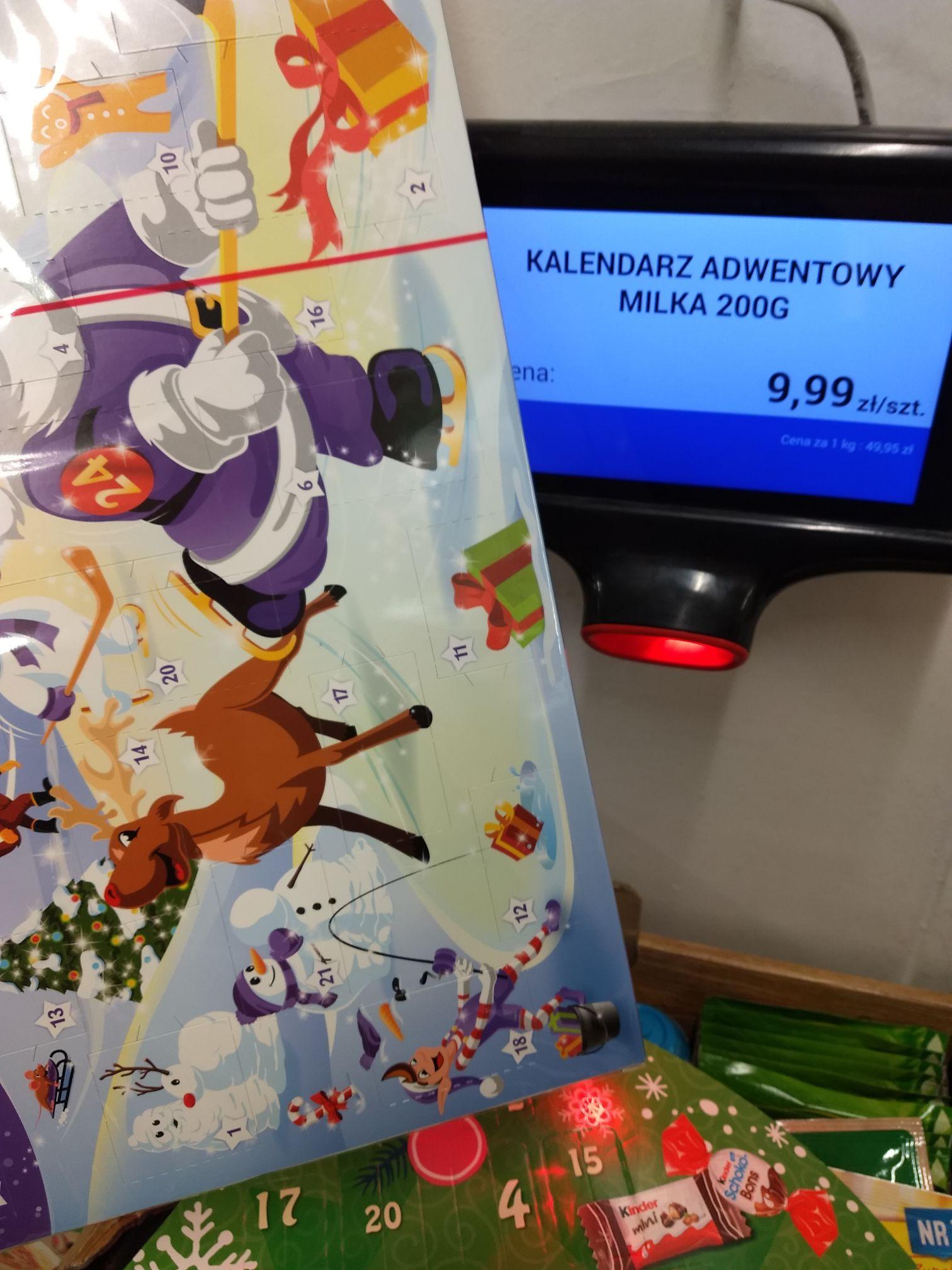 Kalendarz adwentowy Milka 200g lub Kinder 133g Biedronka