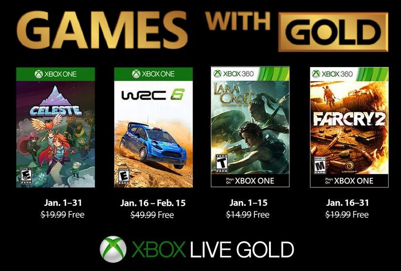 Games With Gold - Styczeń 2019 [Xbox One & Xbox 360]