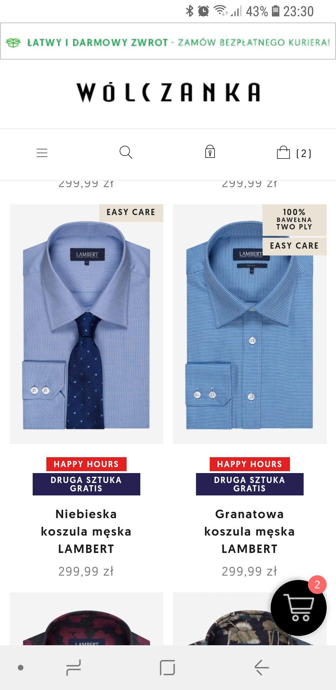2x koszula LAMBERT za 150 PLN