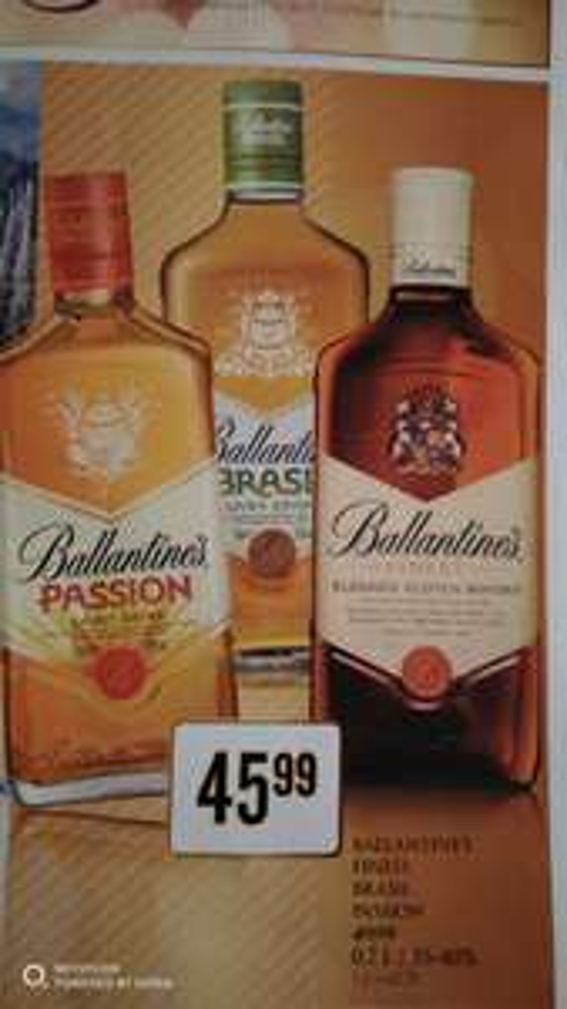 Ballantines 0,7L *PASSION* *BRASIL* *FINEST* | 1litrowy Finest za 54,99pln | 0,7L 12Years za 79,99 | Ballantine's whisky whiskey sklepy Dino