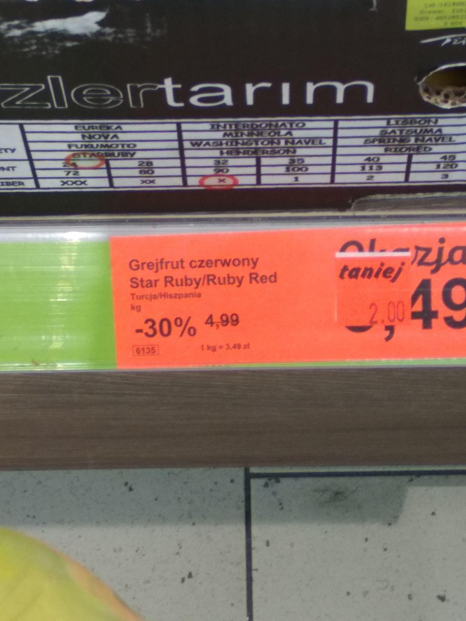 Grejpfrut po 2 zl/kg w Aldi