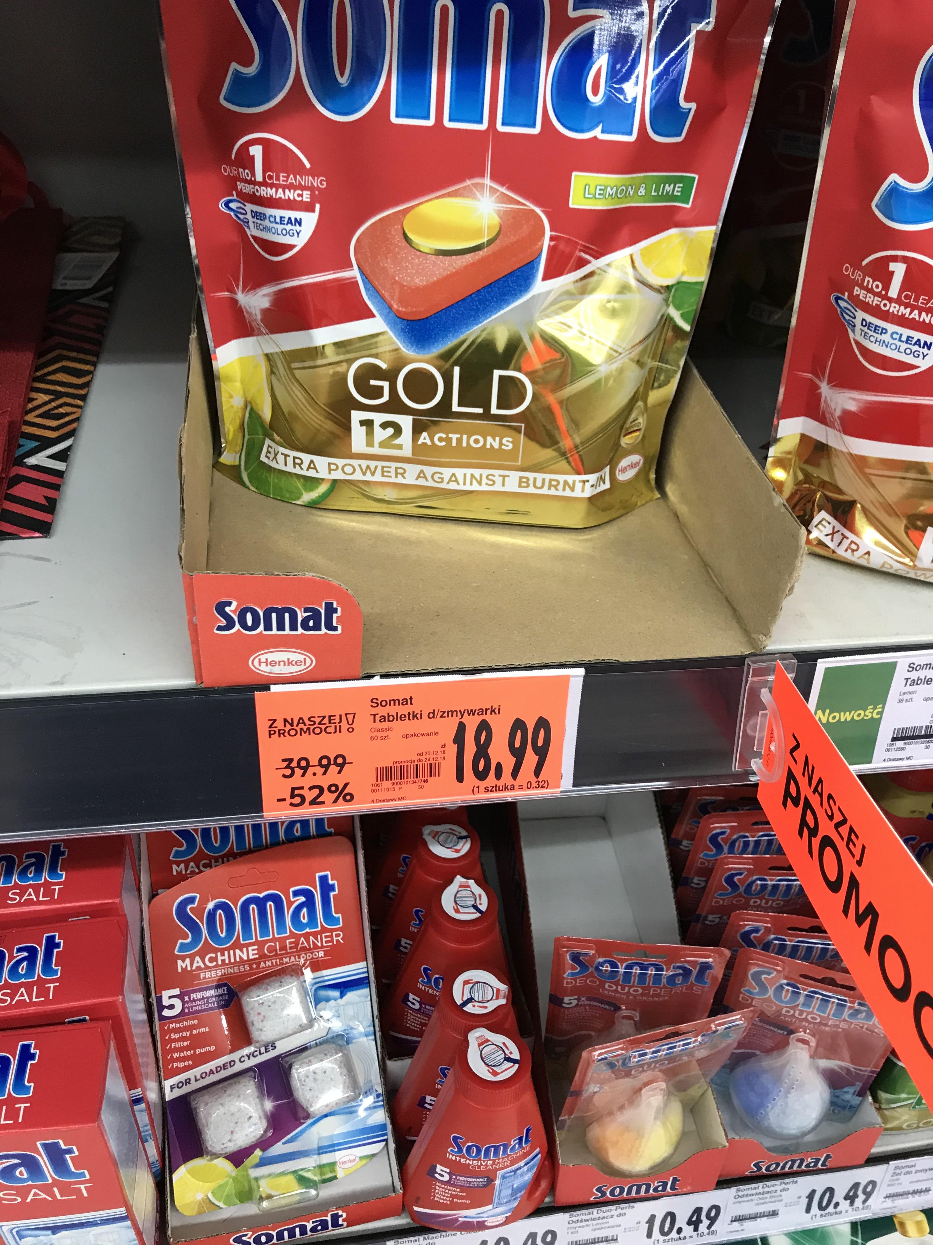 Somat Gold - tabletki do zmywarki 60 szt // 12 in 1