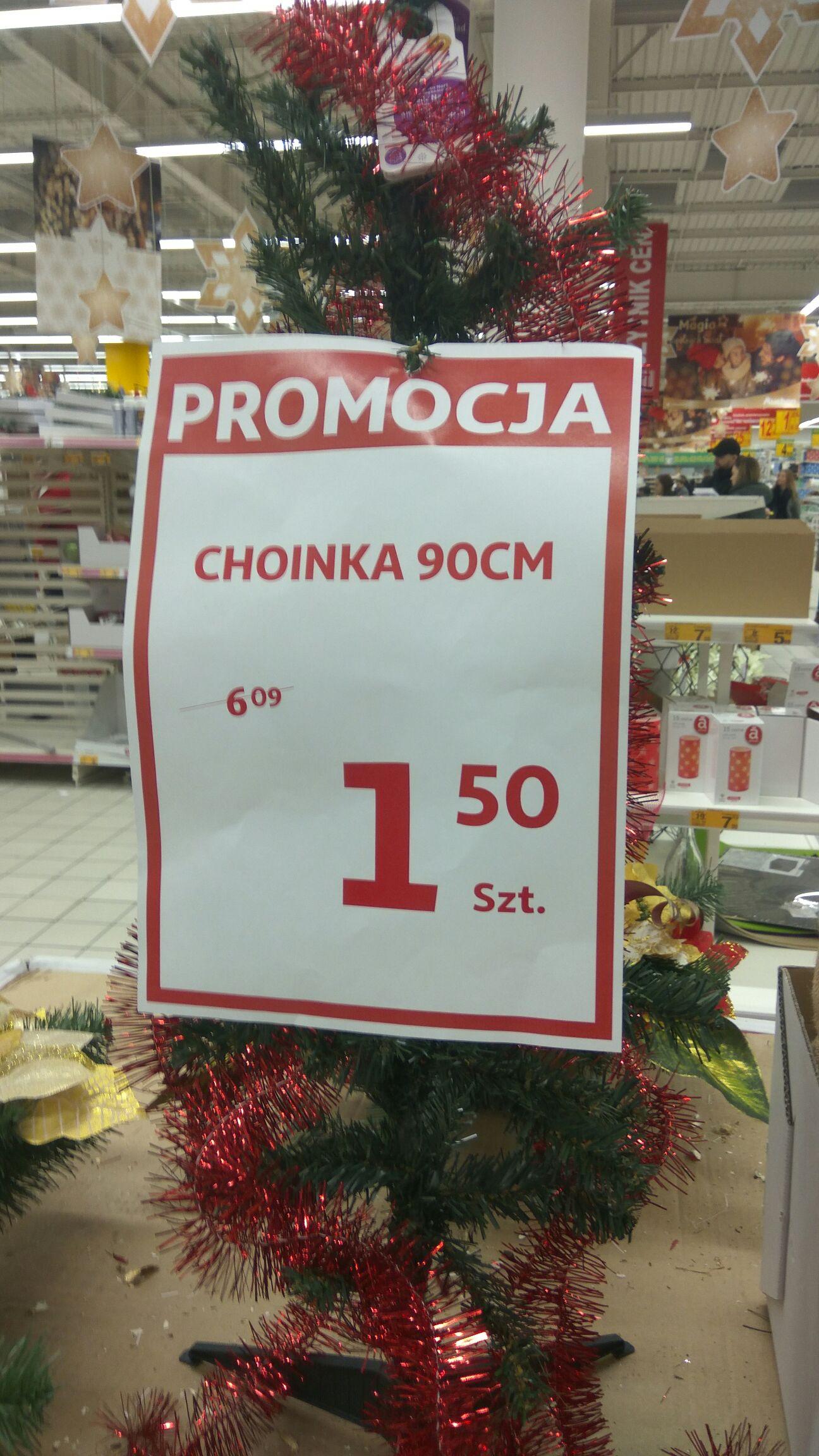 Sztuczna choinka 90cm Auchan