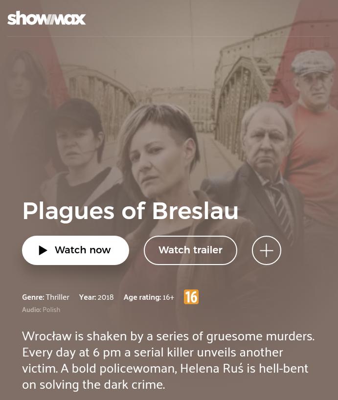 Plagi Breslau - najnowszy film Patryka Vegi za darmo na Showmax.com