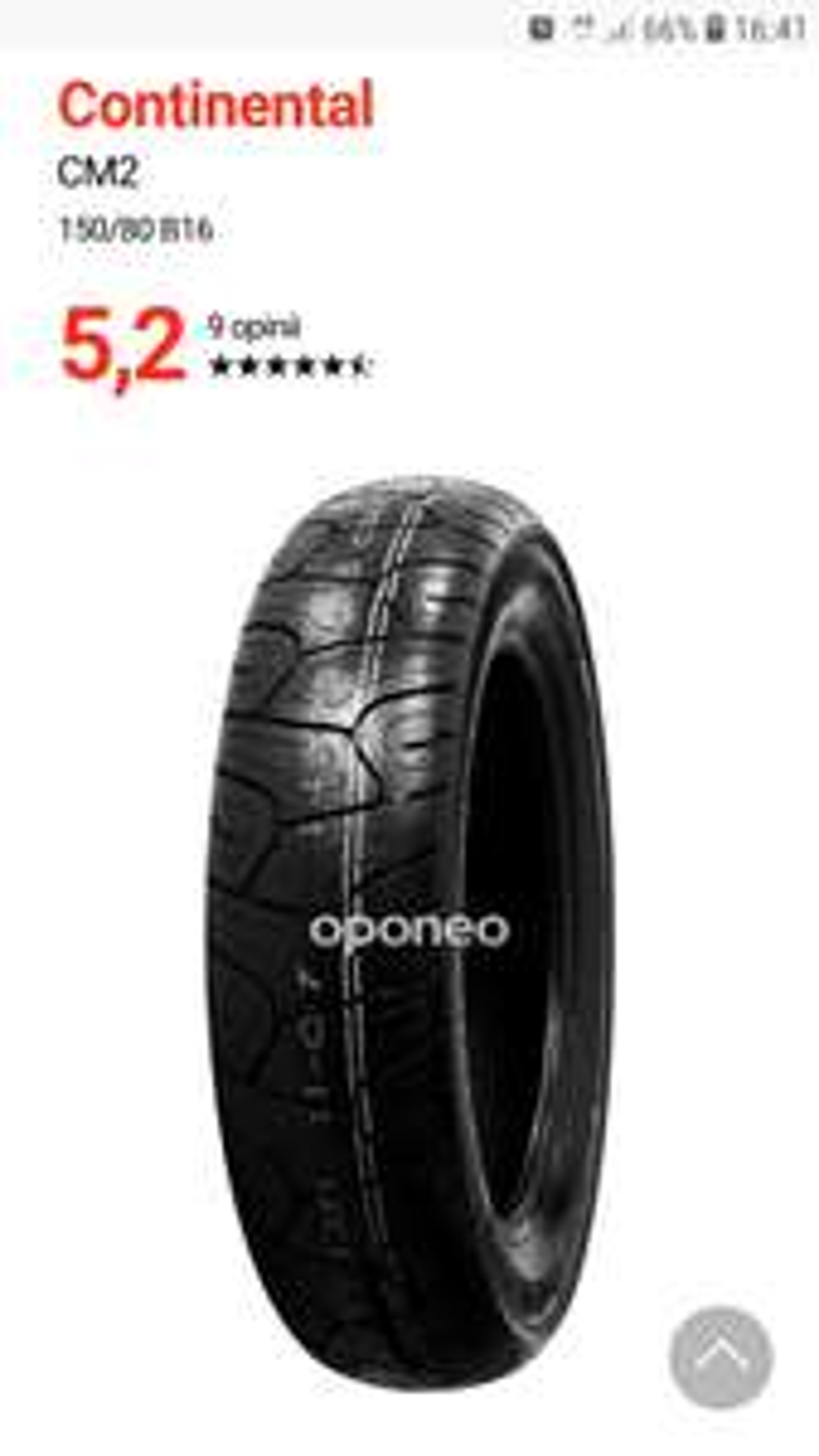 Opona motocyklowa 150/80B16 Oponeo