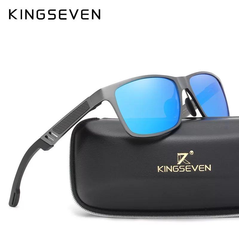 Okulary Kingseven aluminiowe z polaryzacją. Cena w aplikacji.