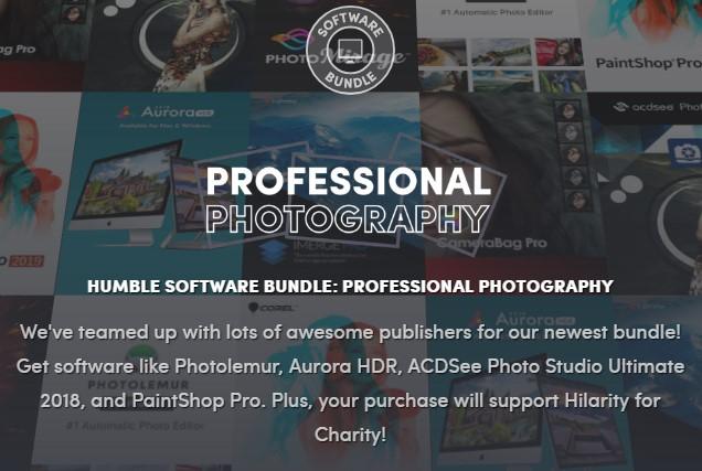 HUMBLE SOFTWARE BUNDLE: PROFESSIONAL PHOTOGRAPHY