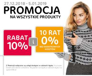 "Agata Meble - ""10% rabatu + 10 rat 0%"""