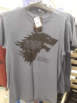 Oficjalna Koszulka T-shirt Gra o Tron Stark Winter is Coming w Auchan