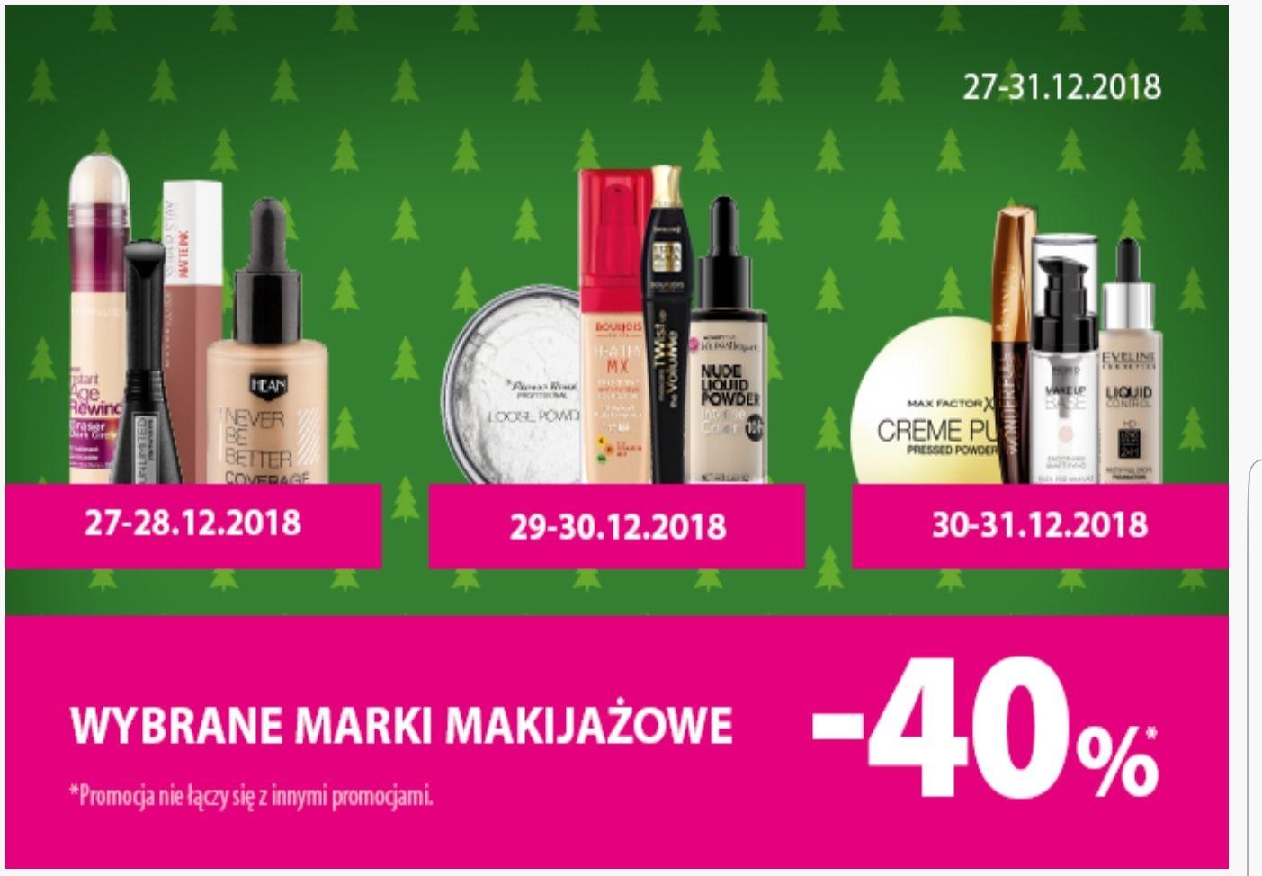 -40 % na wybrane marki makijażowe w Hebe