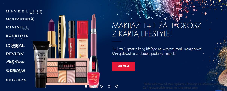 1+1 za grosz na produkty do makijażu (z kartą LifeStyle) @ Super-Pharm