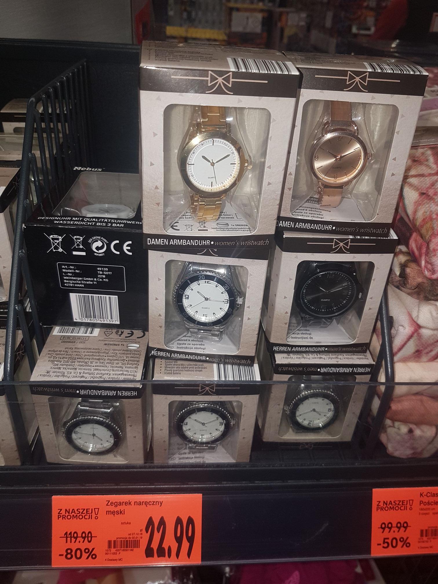 zegarek na rękę męski damski w kaufland
