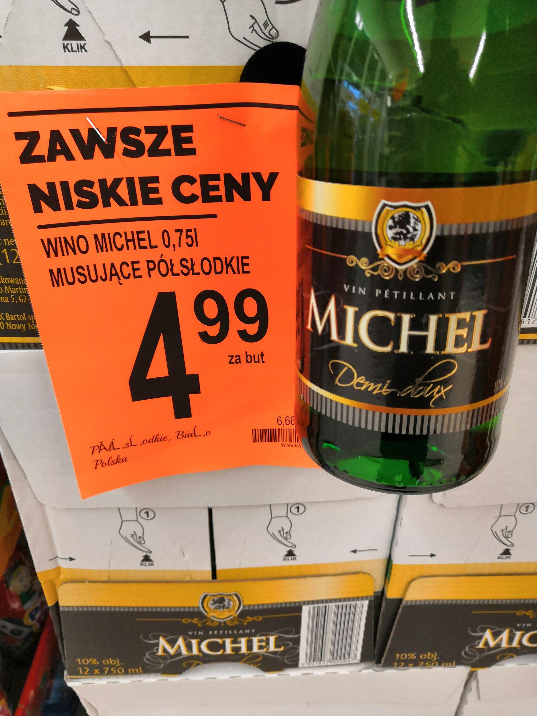 """Wino musujące Michel (""""szampan"""" z Biedronki)"""