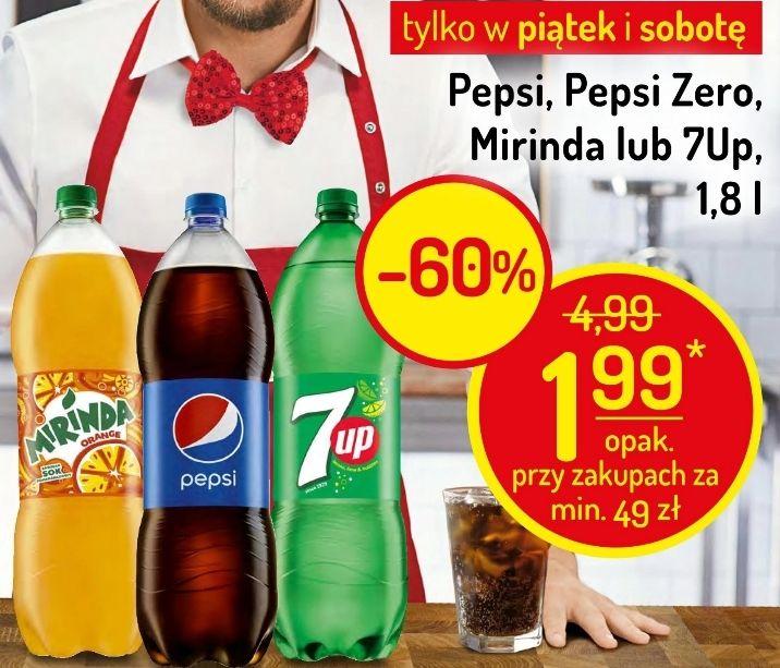 1,8L Pepsi, Pepsi Zero, Mirinda lub 7Up za 1,99zł (1,11zł/L) przy zakupach za min. 49zł (do 2 sztuk) @ Delikatesy Centrum