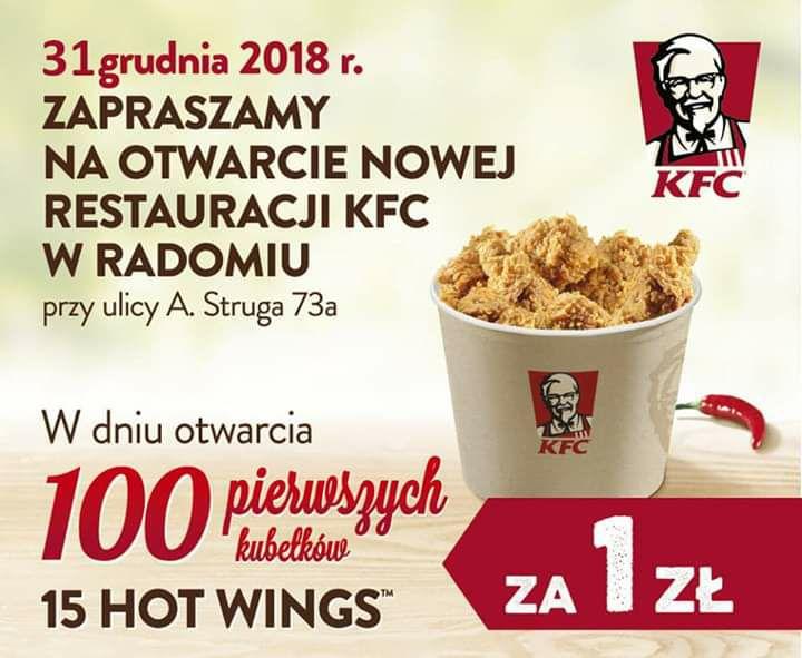 KFC Kubełek za 1 zł w Radomiu - ul.Struga [31.12.2018]