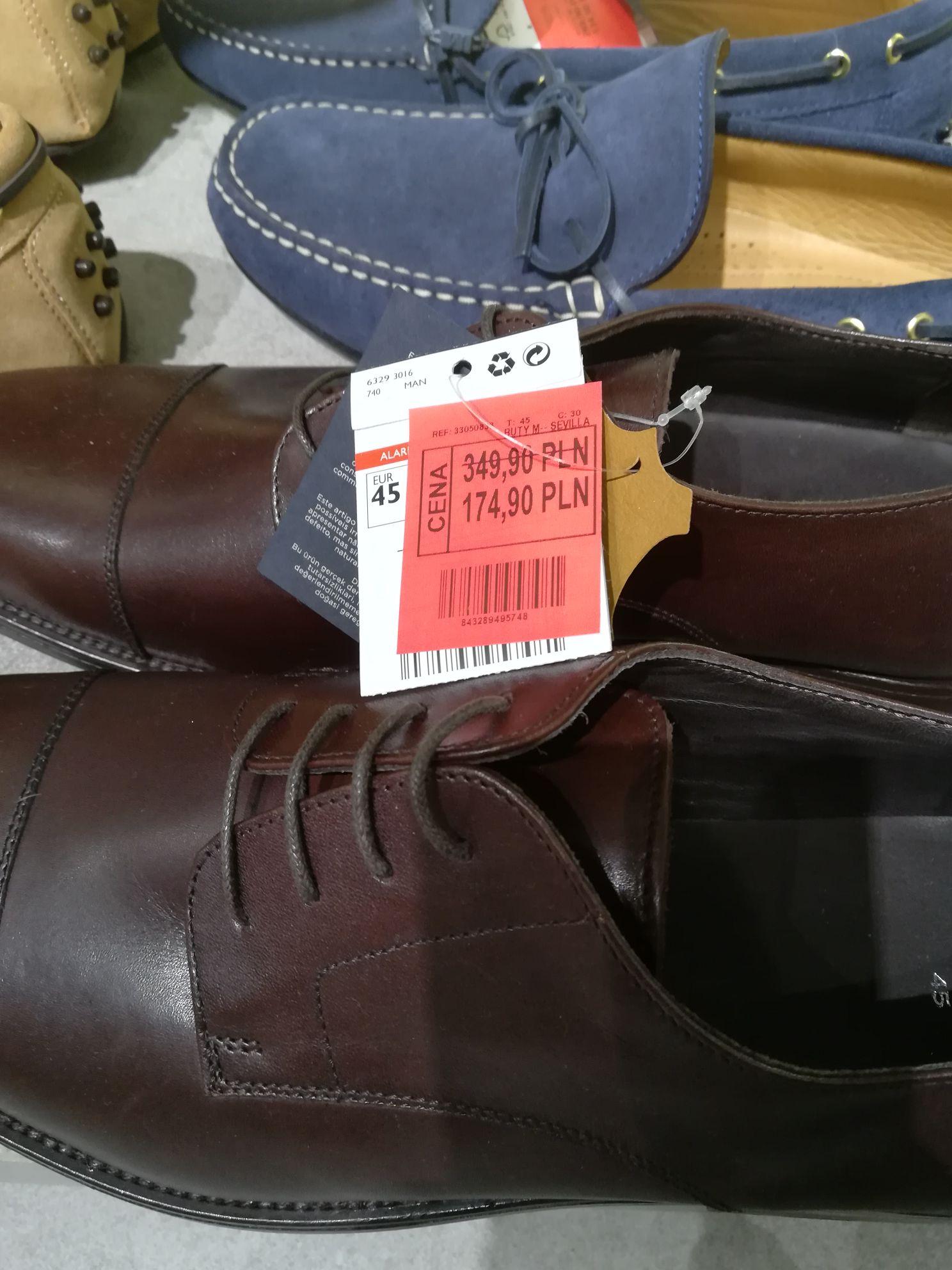 Buty skórzane Mango