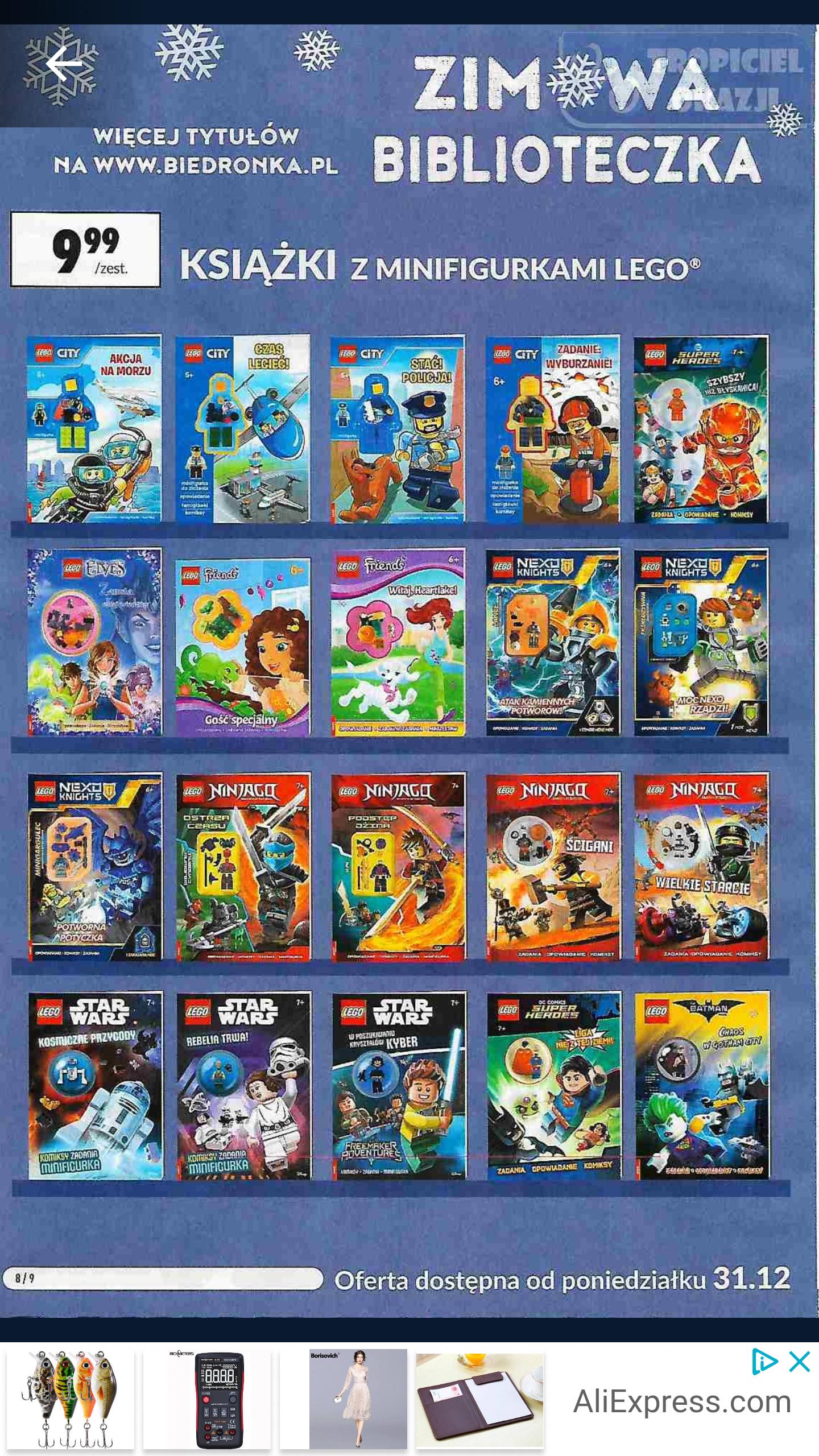 Książki z minifigurkami Lego