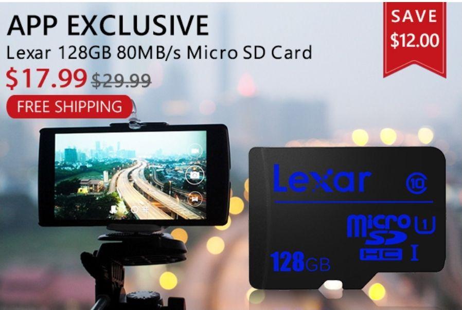 LEXAR 128GB Micro SD Card Class10 UHS-I U1 80/10MBs