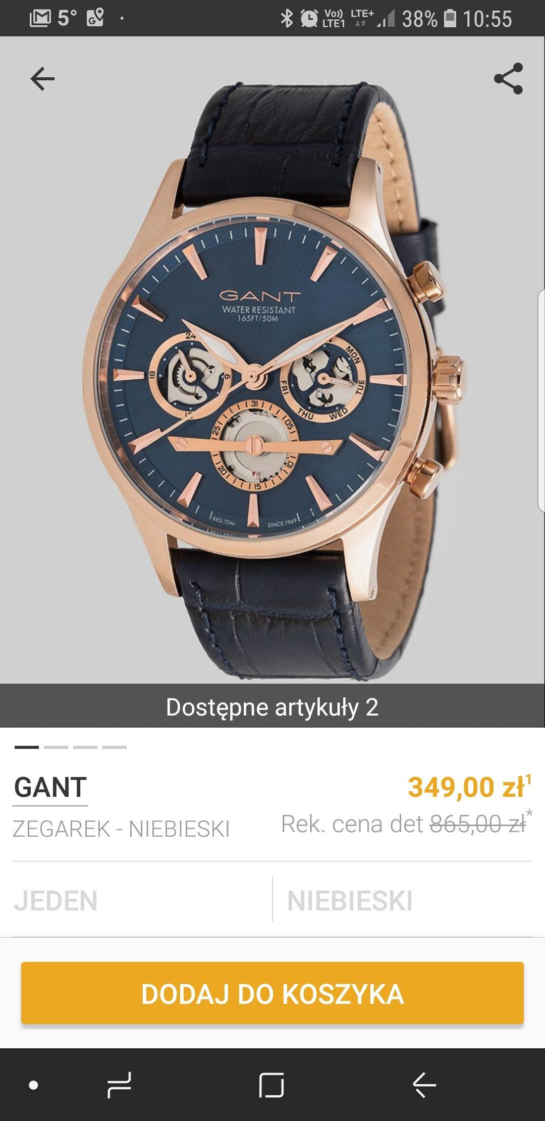Zegarki w świetnych cenach na Zalando Lounge np. Gant GT005001 za 310zł <-- czytajcie opis i komentarze zanim zacznieci minusować !!!!