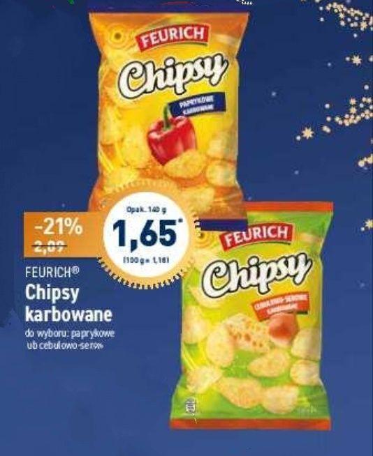 Chipsy karbowane 140g