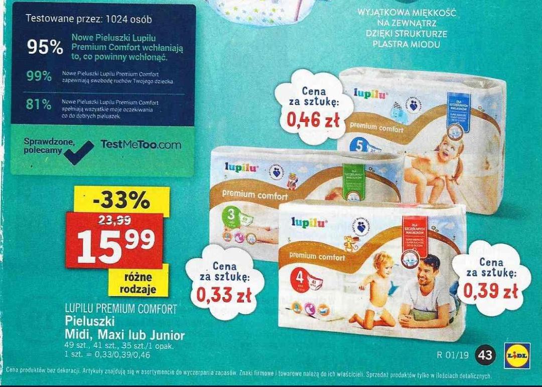 Pieluszki Lupilu Premium po 15,99zł za paczkę