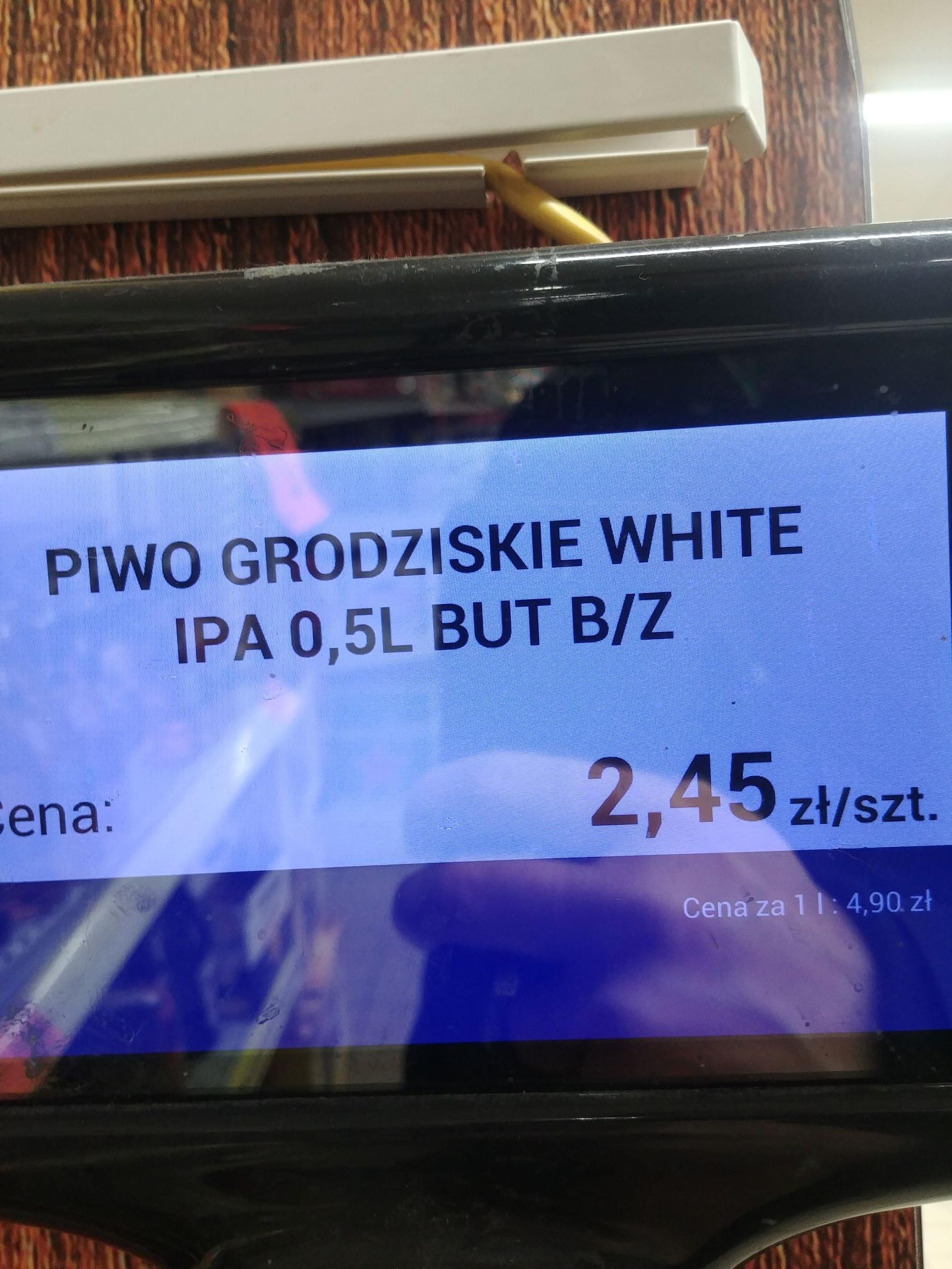 Piwo Grodziskie White IPA 0,5L  2,45 zł  Biedronka