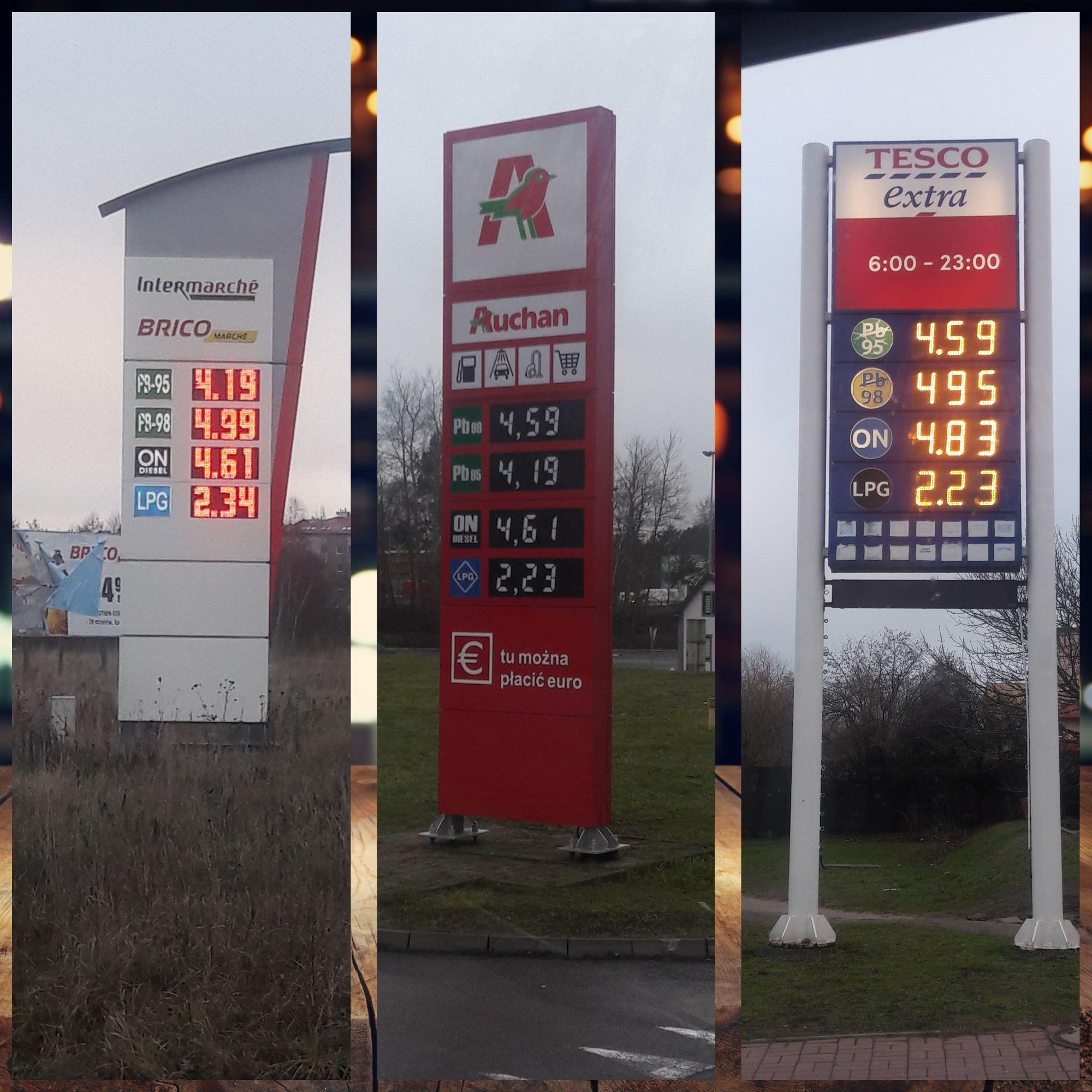Najniższe ceny paliw Pb95 i ON - Zielona Góra