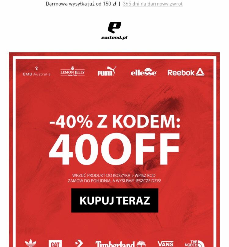 Kod zniżkowy -40% na Eastend